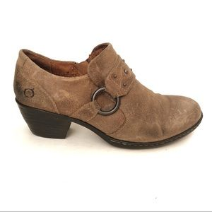 NWOT BORN Distressed Suede Leather shootie bootie